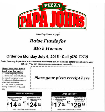 Papa Johns Fundraiser Hawaii
