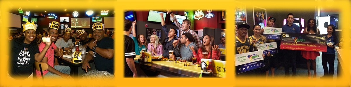 buffalo wild wings Eat wings raise funds
